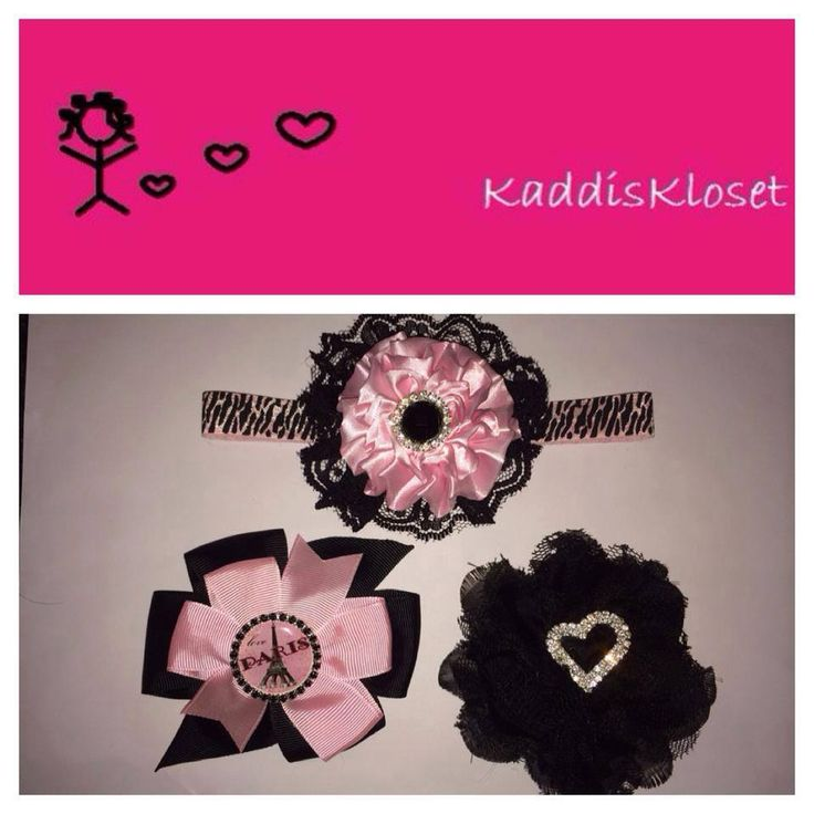 Hand made by Kaddis Kloset 3 x Elegant Paris inspired hair accessories.