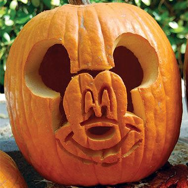 Mickey Mouse Pumpkin Carving Template