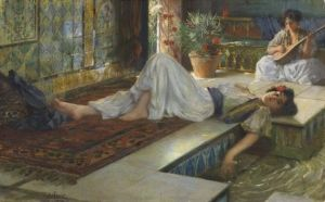 Bredt, Ferdinand, (1868-1921), Leisure of the Odalisques, Oil