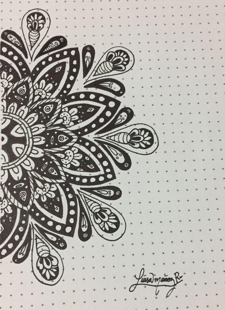 Black and white mandala - Luisamr