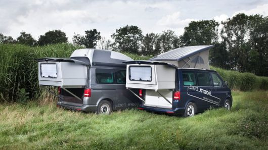This month's CMT show in Stuttgart, Germany puts the spotlight on a highly versatile Volkswagen camper van. The modular Bett Mobil and its second story slide-out bedroom turns the Volkswagen T5 ...