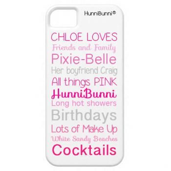 'These are a few of my favorite things' HunniBunni Personalised Phone Case