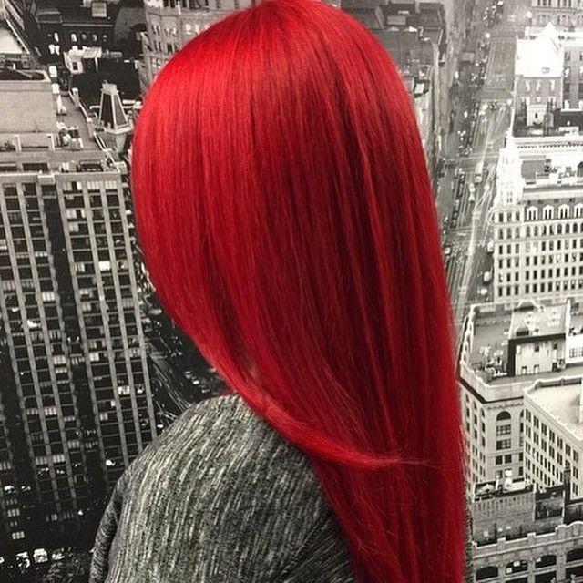 Bright Vivid Red with Pravana