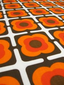 1970s cotton by Dekoplus - stencil this on the walls? Hmmmm :)