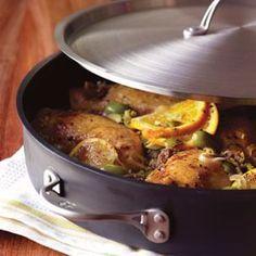 Braised Chicken with Mediterranean Wine Sauce