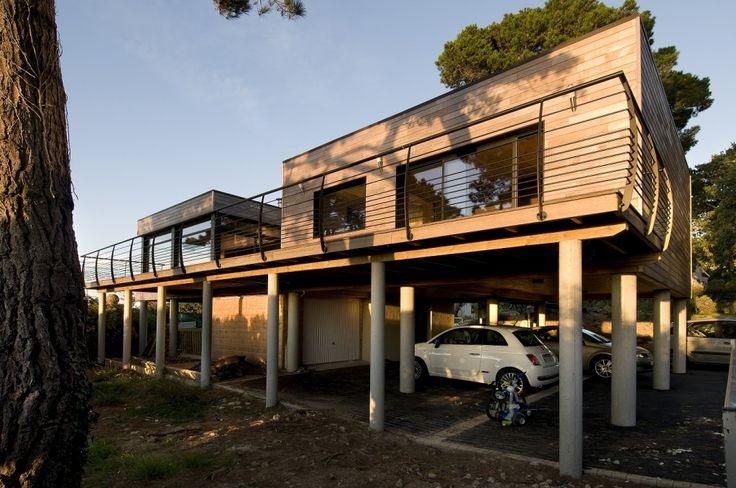 Honka Blockhaus Modell Fusion Bretagne Frontansicht