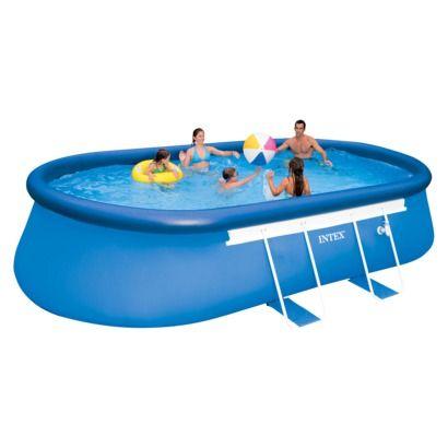 18 best pileta pelopincho images on pinterest kiddy pool - Intex oval frame pool ...