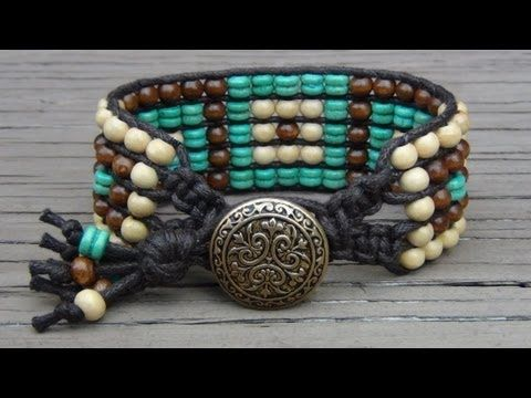 Five Row Beaded Cuff Wrap Bracelet Tutorial