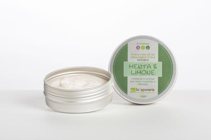 La Saponaria Mint & Lemon Hand Cream (100% vegan).