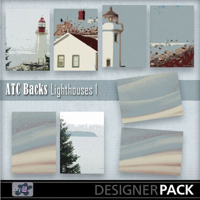 For ATC lovers. 8 Backgrounds ready sized for you.[2.5 x 3.5 inches] NB These are NOT fullsized scrapbook papers. This set are based on Ligh...