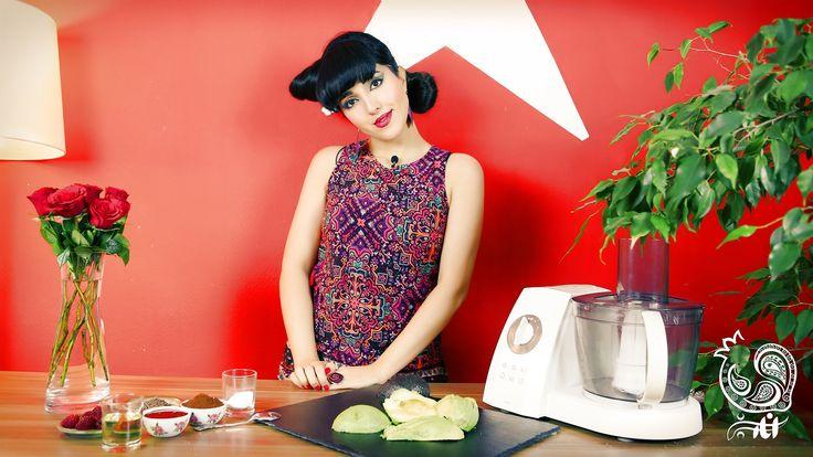 پودینگ آواکادوی خام گیاهی انار سبز ☆ Raw vegan avocado pudding