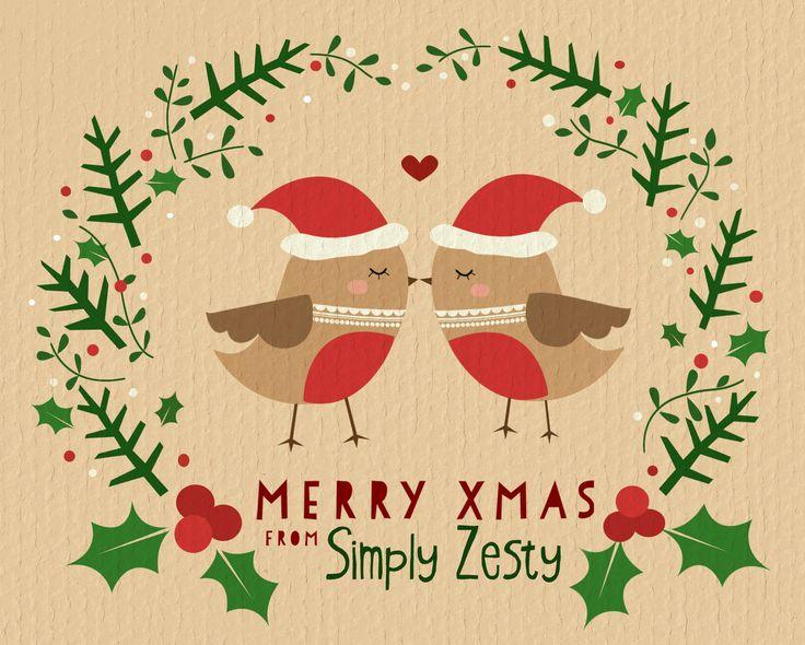 Christmas card design for 'Simply Zesty'.