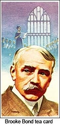 Elgar on a Brooke Bond trade card