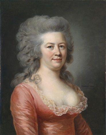 Bildnis einer Dame by Johann Ernst Heinsius, 1787.