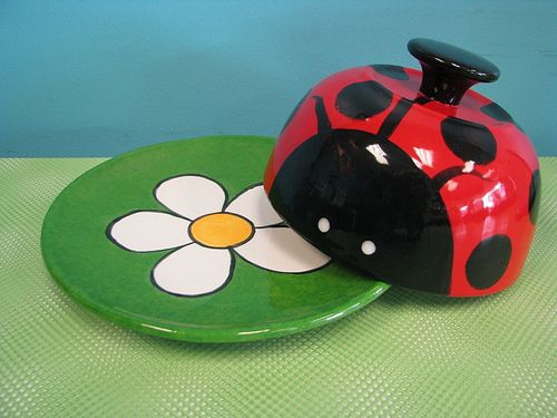 LadyBug Cheese Bell/Candy Dish