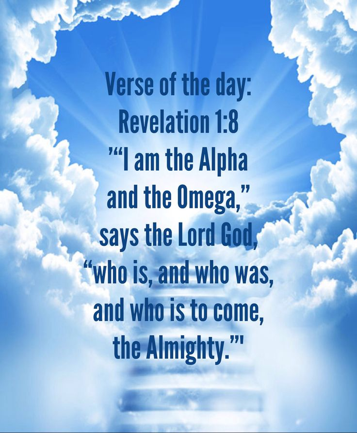 """Verse Of The Day: Revelation 1:8 NIV """"""""I Am The Alpha And"""