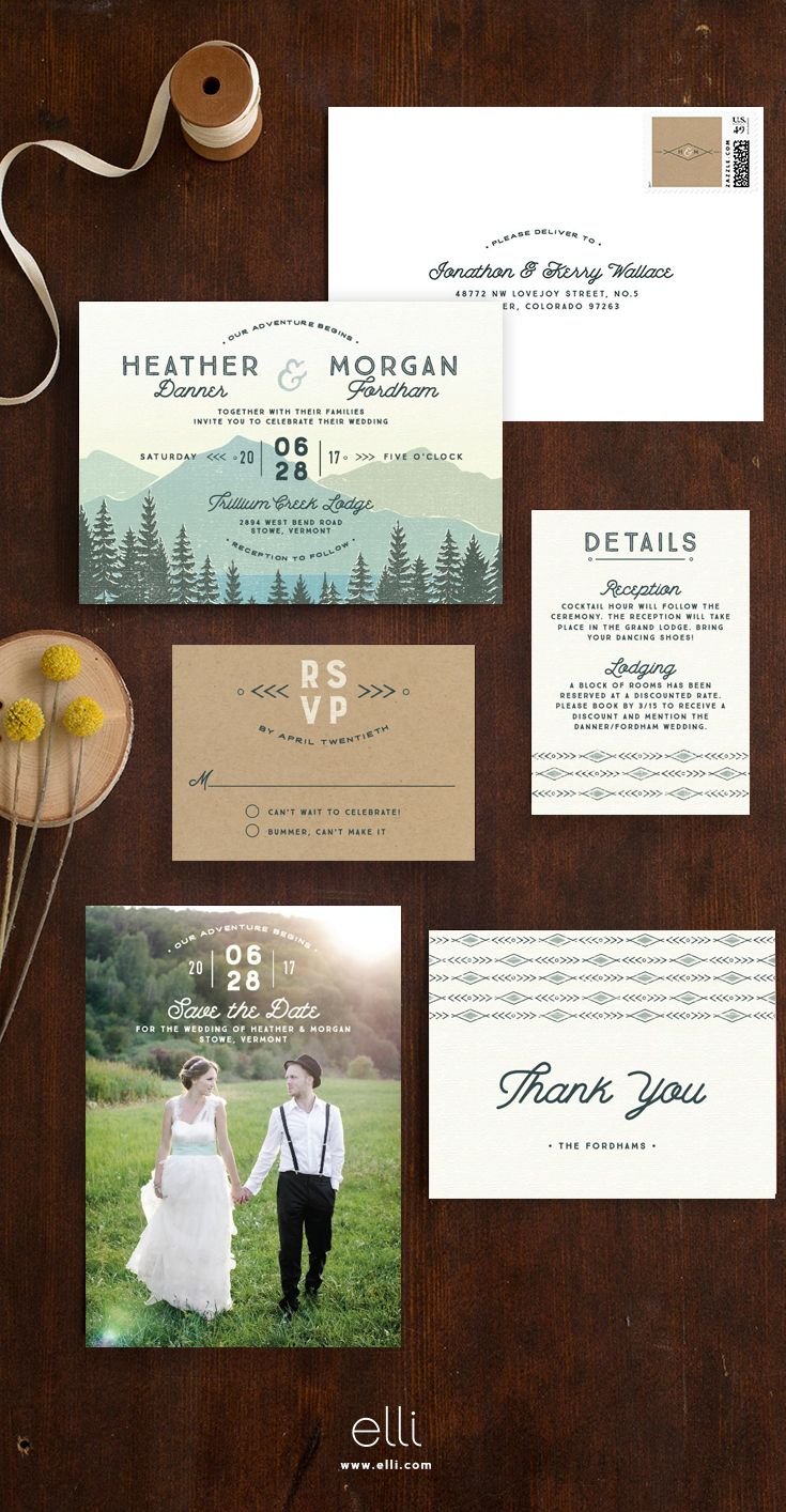 watch wedding invitation movie online eng sub%0A The perfect wedding invitation suite for a mountain wedding