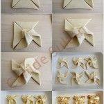 Birbirinden Şık Pasta Börek Katlama Tekniği Resimli Anlatım