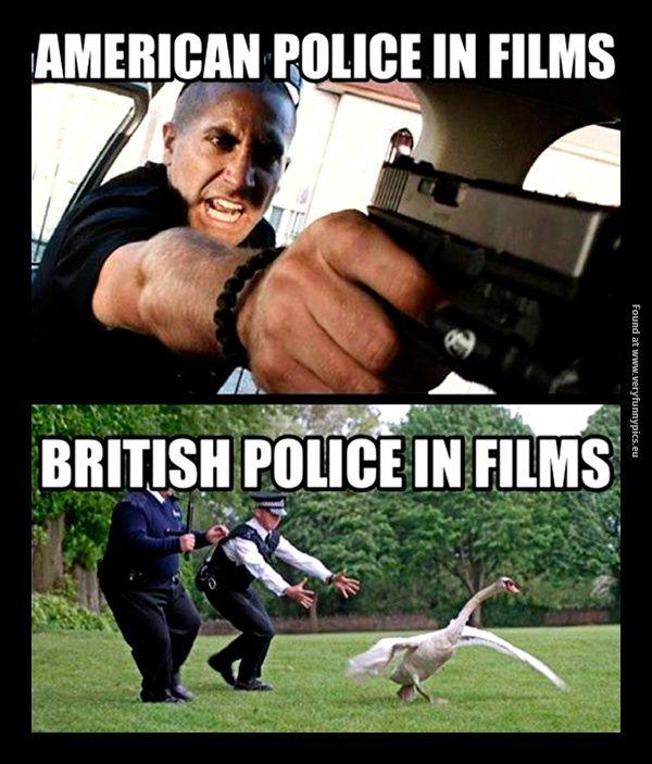 Movie cops: America VS England