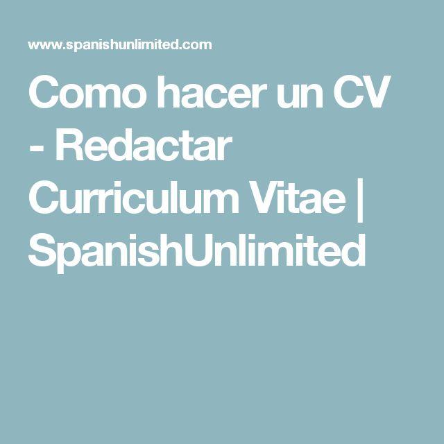 Como hacer un CV - Redactar Curriculum Vitae | SpanishUnlimited