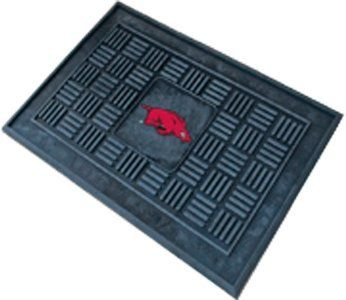 """Arkansas Razorbacks 19""""x30"""" Medallion Door Mat by Fanmats. $25.21. Dimensions: 19"""" W x 30"""" H. Deep reservoir contains water and debris. Rugged ribs scrape shoes clean. Officially licensed by the NCAA. 100% Heavy duty vinyl construction with team logo molded in 3D. Welcome your guests in style with this officially licensed medallion door mat from Fanmats. Each mat is boldly decorated with the team logo and features 100% vinyl construction with non-skid backing ensuring a rugged an..."""