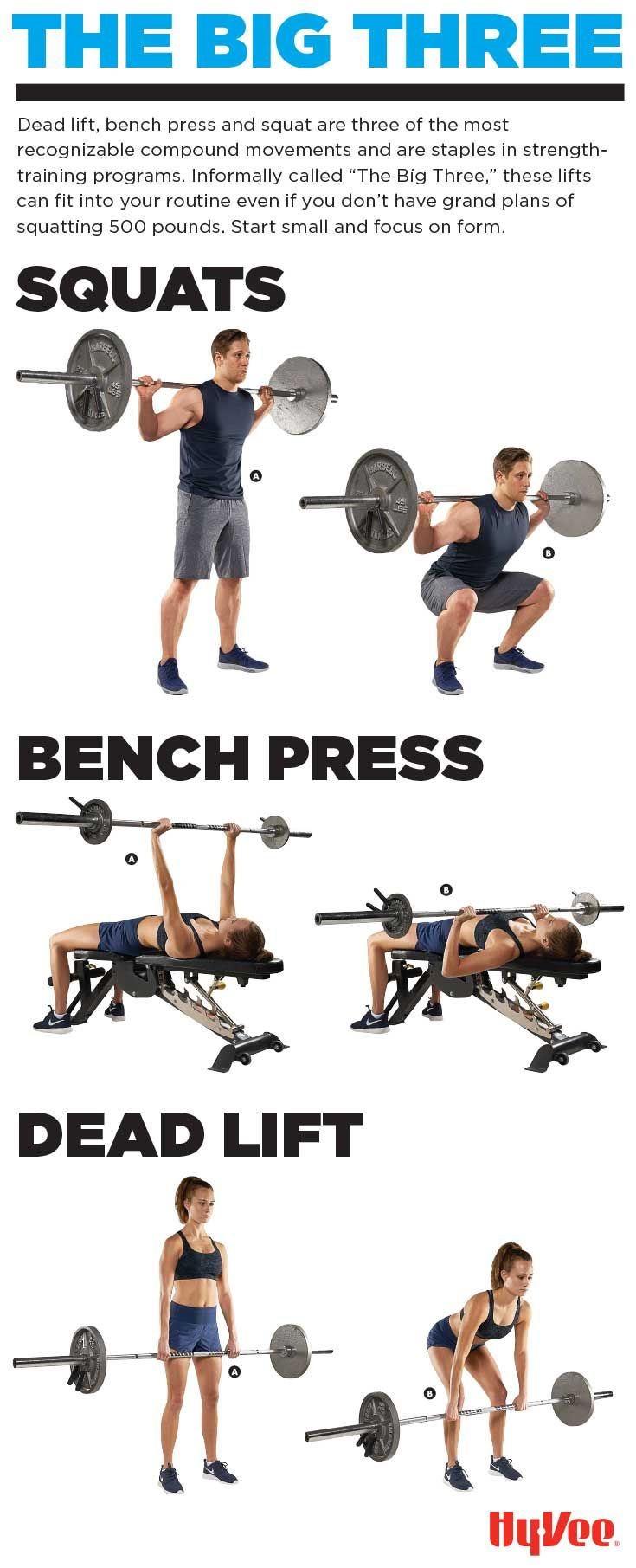 Squat Press Lift Dead Lift Bench Press And Squats Are The Three Staples Of Strength Training Start Small An Deadlift Bench Press Strength Training Program