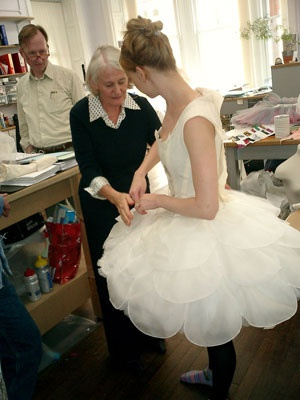 Scottish Ballet Cinderella costume fitting. Pretty!