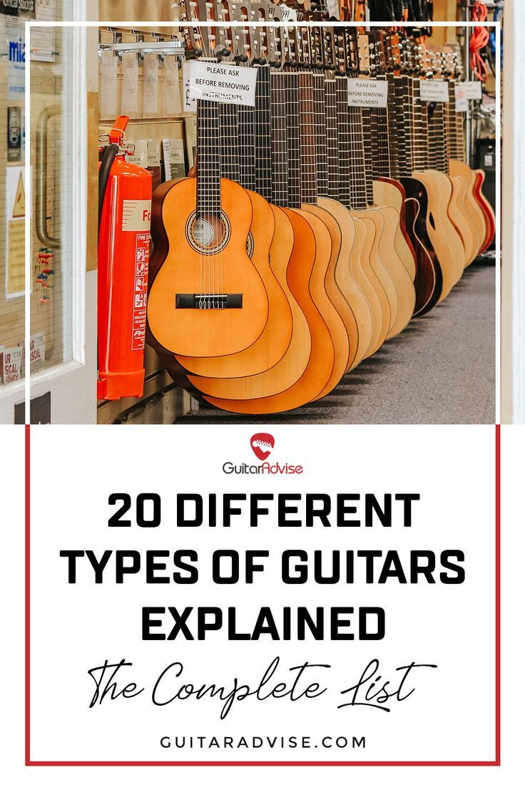 20 Different Types Of Guitars Explained The Complete List 2021 Types Of Guitar Guitar Tenor Guitar