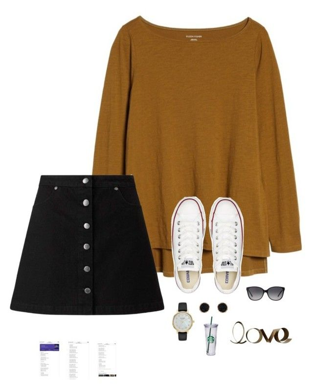 """""""Read"""" by trujilloxochitl on Polyvore featuring Eileen Fisher, Miss Selfridge, Converse, Kate Spade, Humble Chic, Michael Kors and PBteen"""