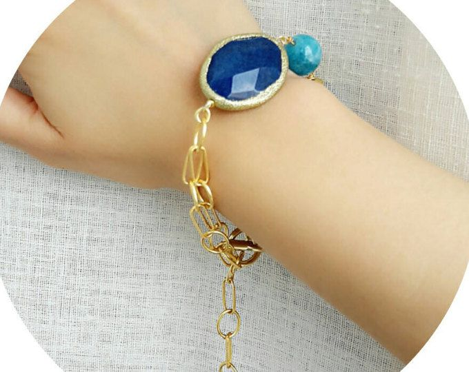 Braccialetto della perla, boho bracciale, bracciale blu, gioielli spiaggia, regalo fidanzata, regalo per lei, regalo di compleanno, regalo per amico, boho gioielli regalo