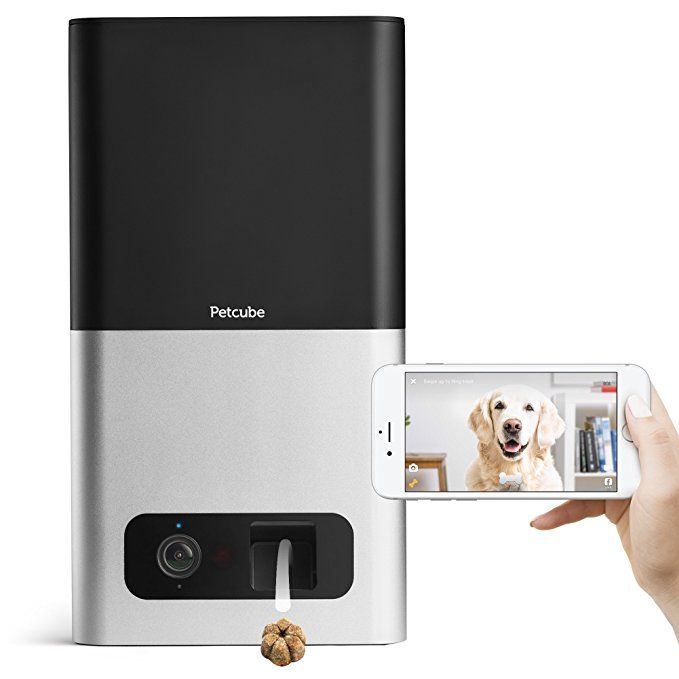 Petcube Bites Pet Camera With Treat Dispenser Monitor Your Pet Remotely With Hd 1080p Video Two Way Audio Night Vision Sou With Images Pet Camera Petcube Dog Mom Gifts
