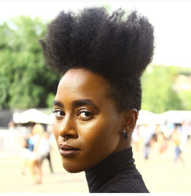 Natural Hair Shaved Sides Pinterest
