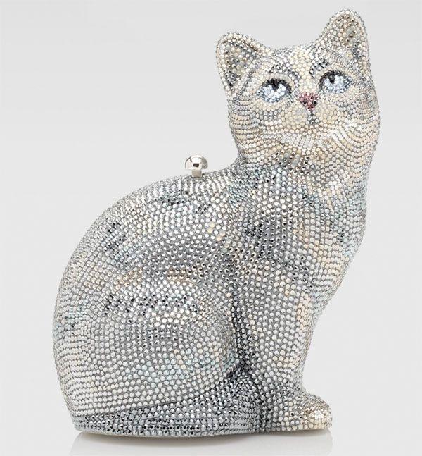 Judith Leiber Swarovski 'Capone' Cat Minaudiere