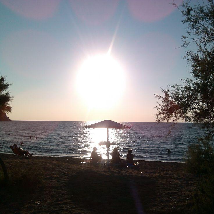 Myrina, Romeikos Gialos beach, sunset LIMNOS island, GREECE Photo by Electra Koutouki 2014
