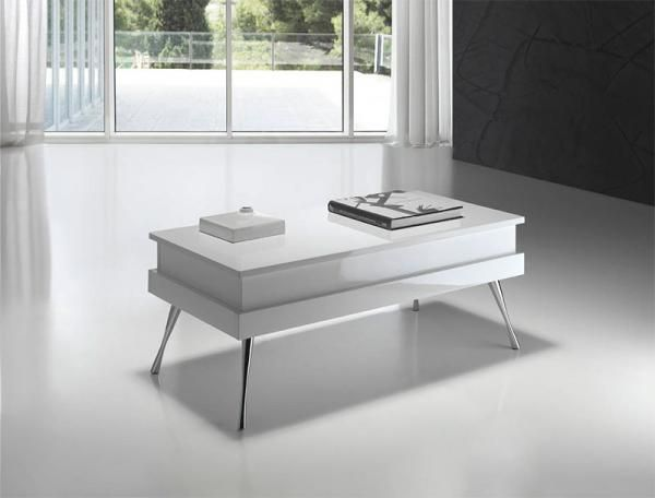 Angel Cerda Coffee Table Chrome Legs and Lift Up Top Various Colours