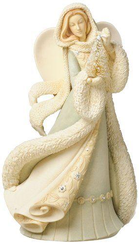 Enesco Foundations Angel with Christmas Tree Figurine by Artist Karen Hahn, 7.8-Inch Enesco,http://www.amazon.com/dp/B00C6DCK20/ref=cm_sw_r_pi_dp_JFfAtb1TX5YR8PT3