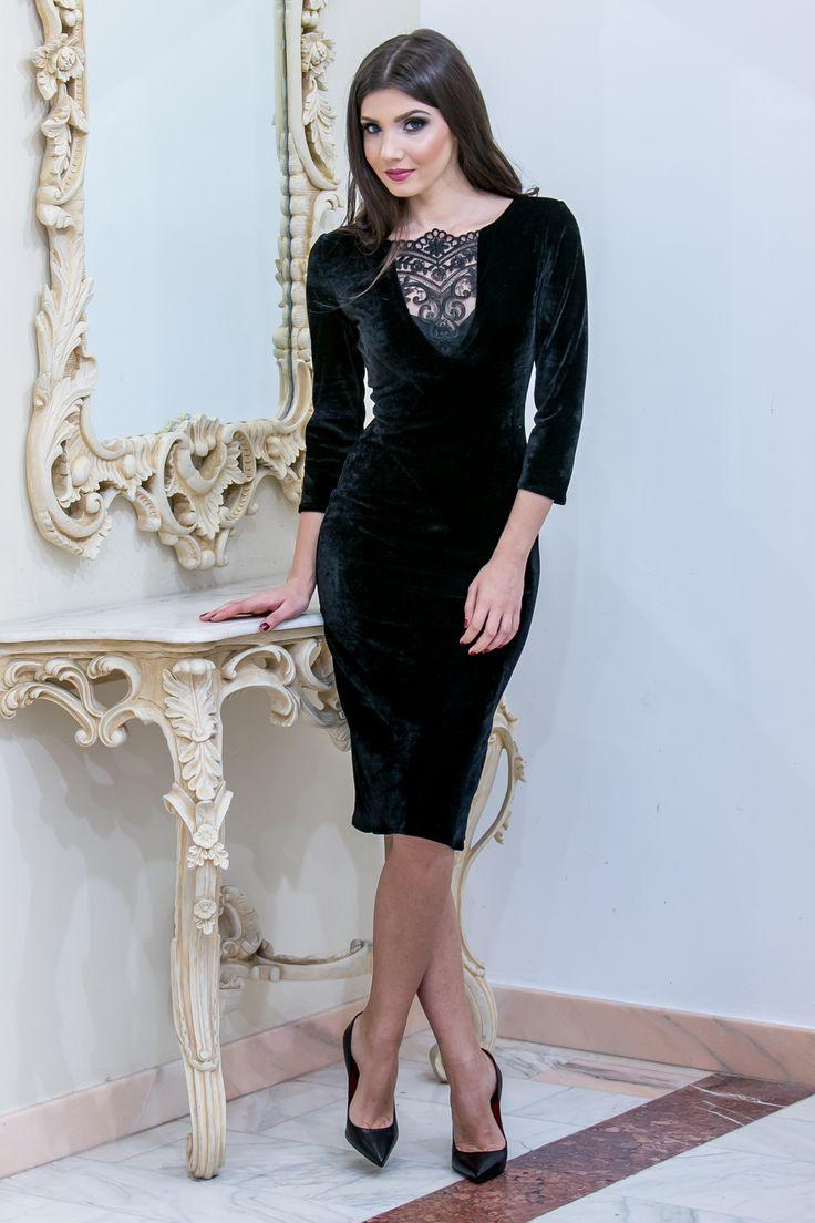 Lovely velvet occasion dress by Miss Grey