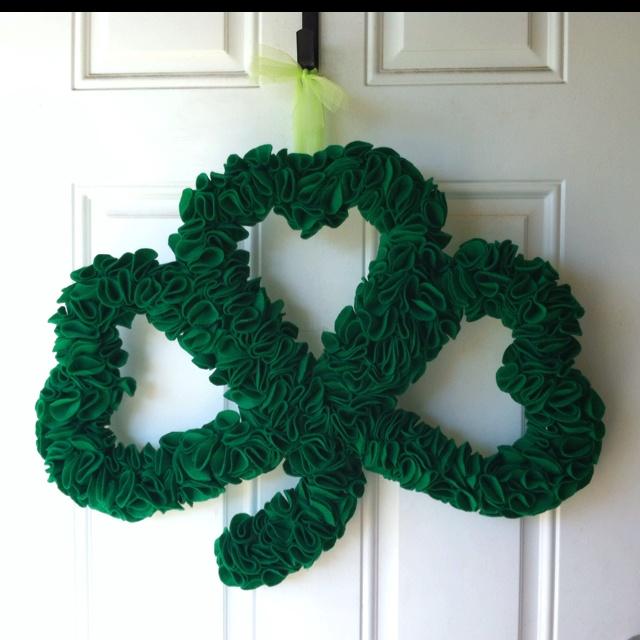 The St Patty's wreath I made!My Friend