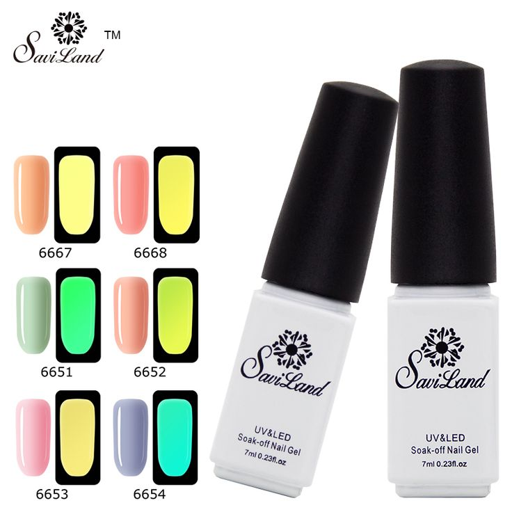 Saviland Glow In The Dark Light Soak Off UV Gel Nail Polish Fluorescent Neon Luminous Esmalte Shine Varnish Nail Art Tools