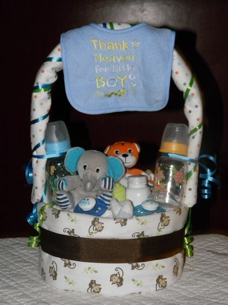 diaper cake basket instructions