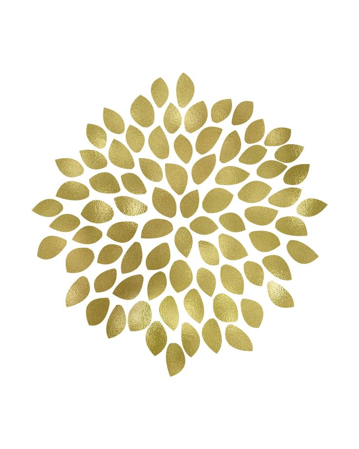 Large Gold Flower Printable Art - These Bare Walls