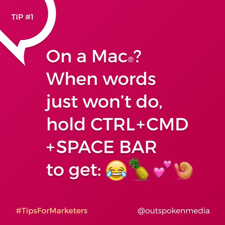 Every day we find fun tips that make #AgencyLife more productive. Emojis are easy to access on the phone, but what about when you want to illustrate an email subject line? Here's how to type an emoji on your Mac using a simple shortcut with the CTRL + CMD + space bar keys. Enjoy!  Follow Outspoken Media and #tipsformarketers to add simple tricks like this to your marketing tool belt!