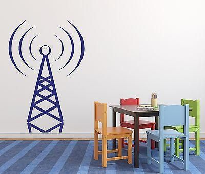 Wall Sticker Vinyl Decal Station Radio Wave Beacon Derrick Unique Gift (n223)