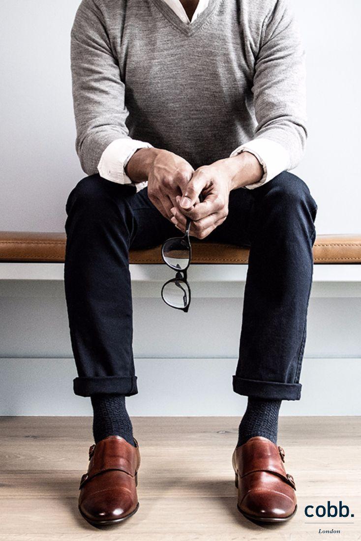 Mens monk strap shoes, Mens brown