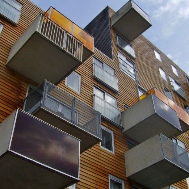 #WoZoCo #housing b-side is interesting as the main #facade #MVRDV #Amsterdam #superdutch #supermodernism #architecture #balconies #woodcladding