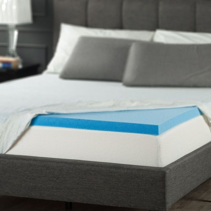 sleeper memory foam bed pad 2 inch gel mattress topper home essential bedroom