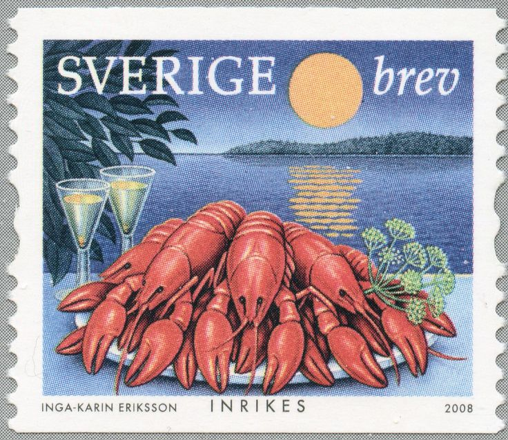 """Sweden Domestic mail """"Crayfish party"""" 2008"""