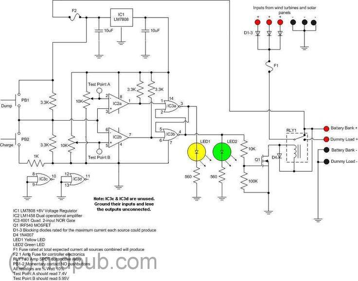 173 best circuit board schematics images on pinterest electrical Solar Panel Circuit Diagram Schematic charge controller schematics solar panel circuit diagram schematic