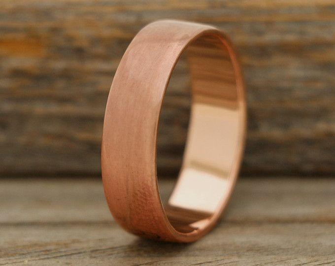 Mens Wedding Band Mens Engagement Band Mens Ring Mens Etsy Copper Wedding Copper Wedding Band Copper Wedding Rings