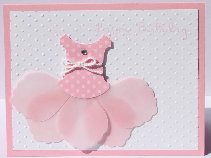 266 best birthday children baby cards images on pinterest baby happy birthday handmade tutu stampin up card for girl m4hsunfo